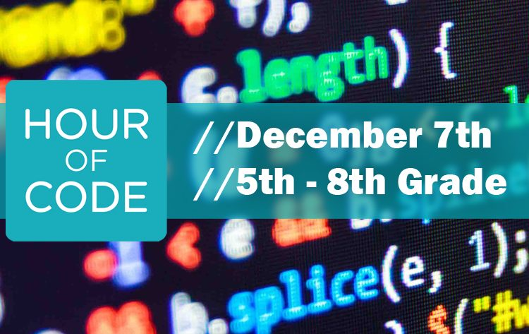 Hour of Code // Thursday, December 7th