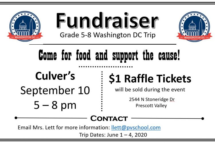 Fundraiser event at Culver's!