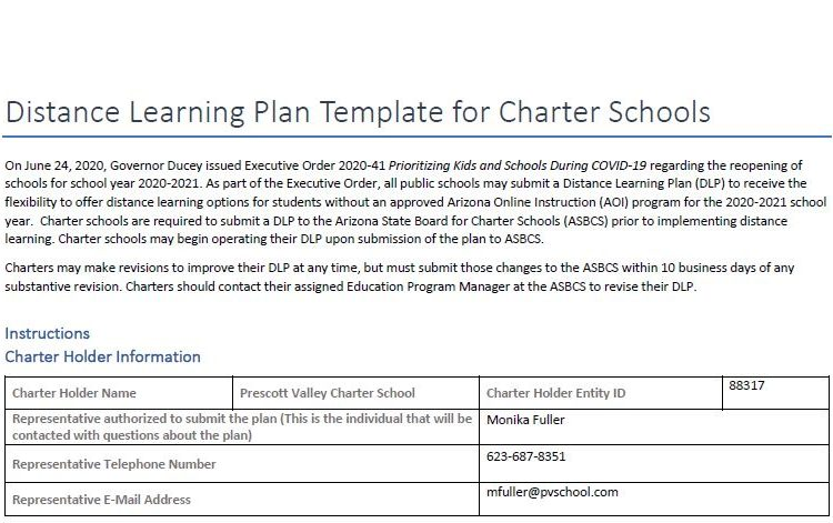 2021 Distance Learning Plan