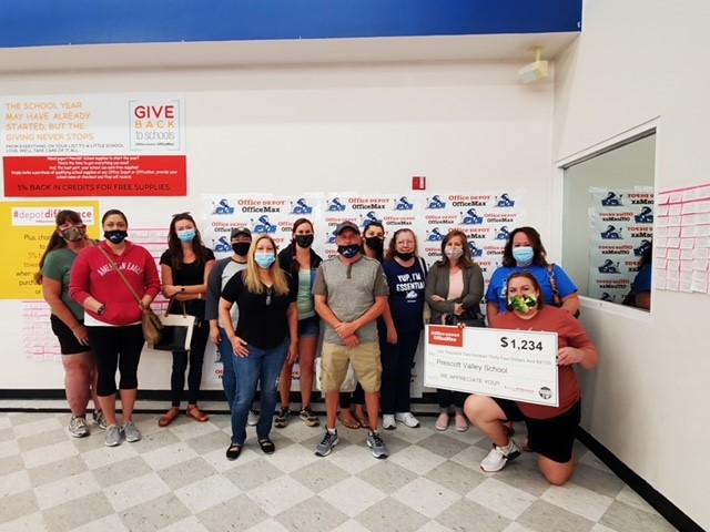 PVCS Receives Donation From OfficeMax!