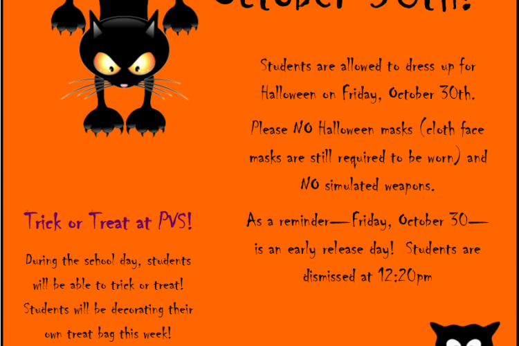 Dress-up Tomorrow! Friday, October 30th
